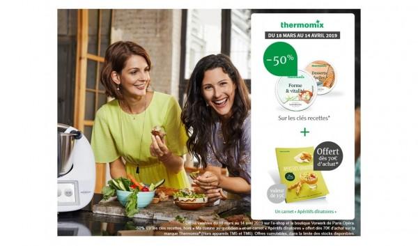 -50 % sur les clés recettes et 1 carnet apéritifs dinatoires offert à 70€ d'achat*
